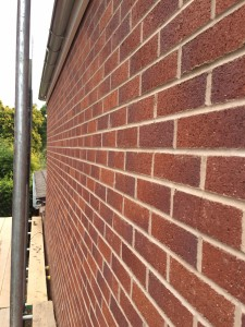 Brick slab to extension