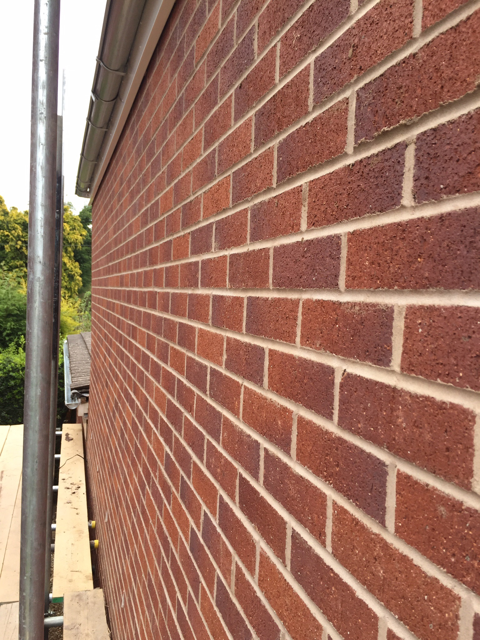 Face brickwork. Extensions, property development