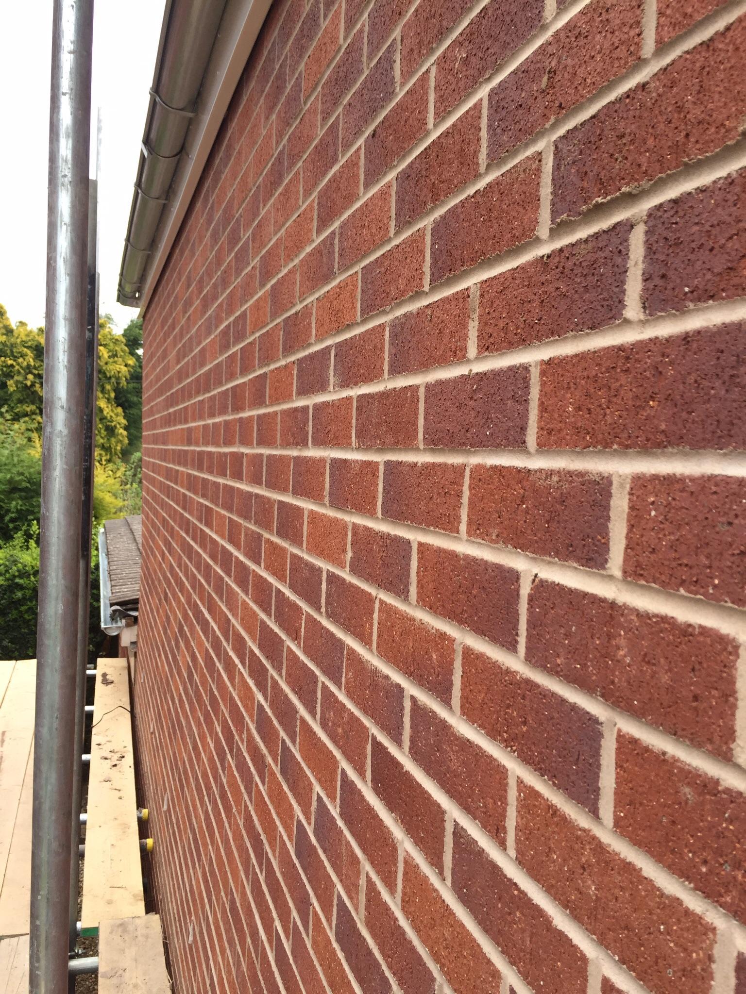 Face brickwork. Extensions, property development